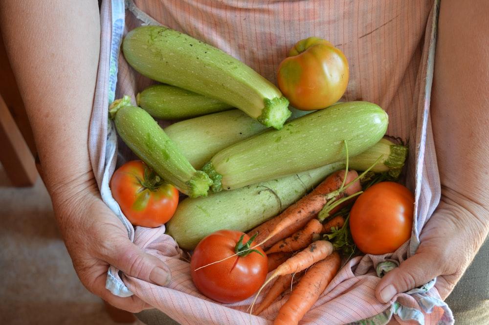 green and orange vegetables