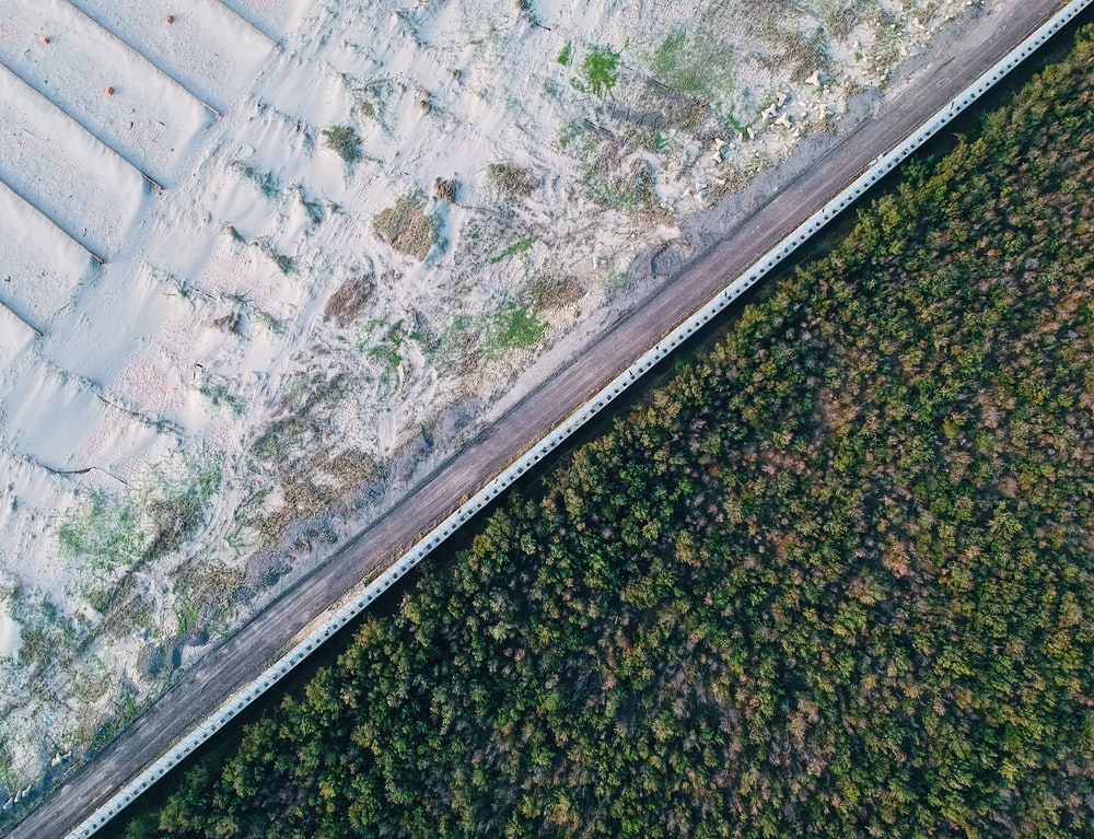 aerial photography of empty road during daytime