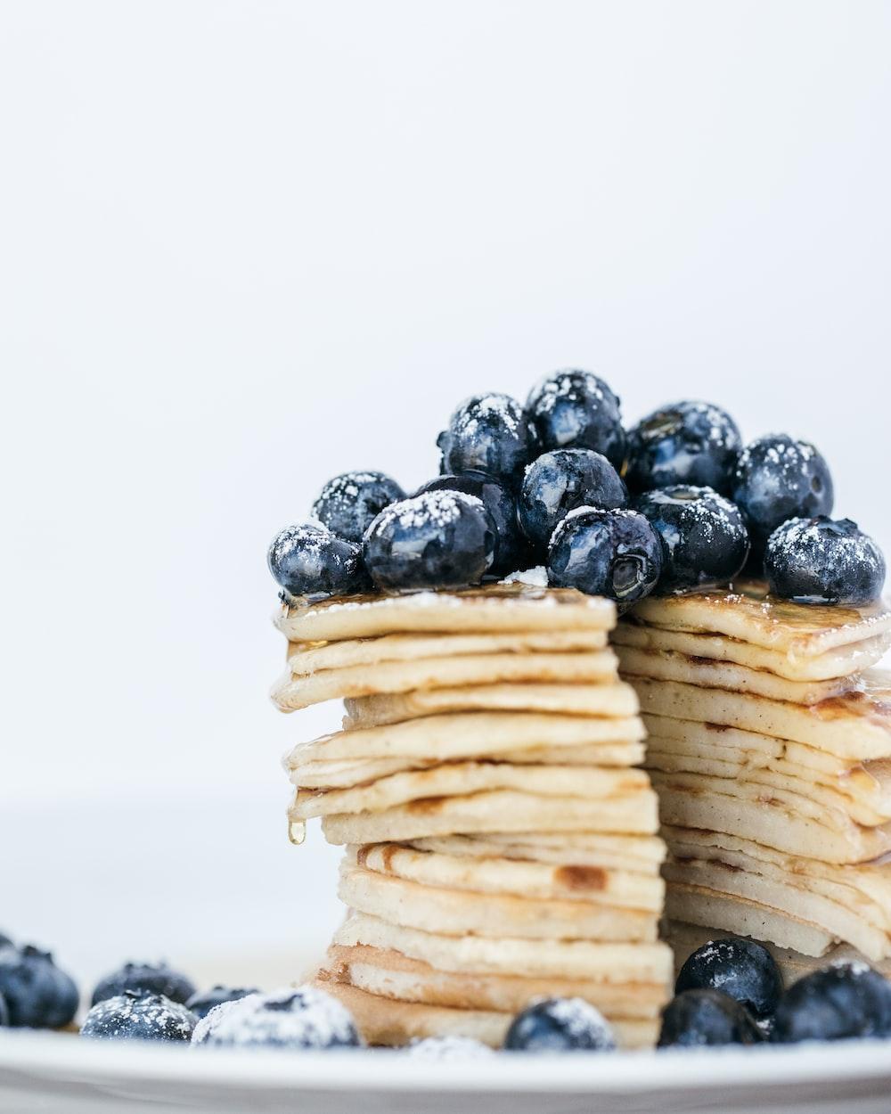 blackberries on pancakes