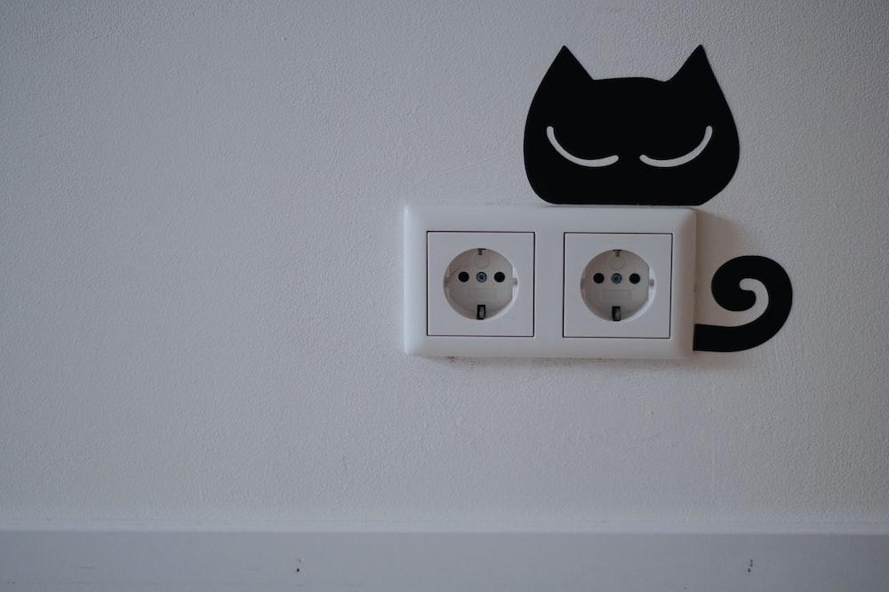 white wall plug