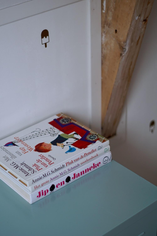 three white books