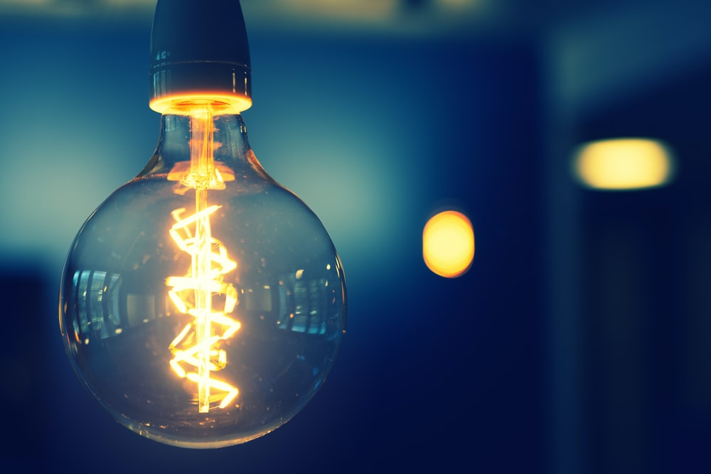 close up photography of light bulb