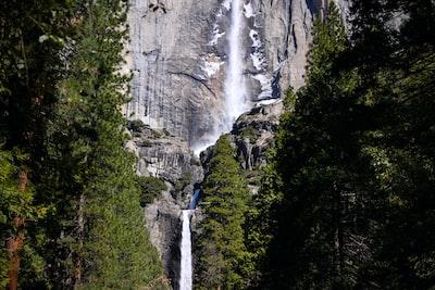 waterfalls on a cliffside