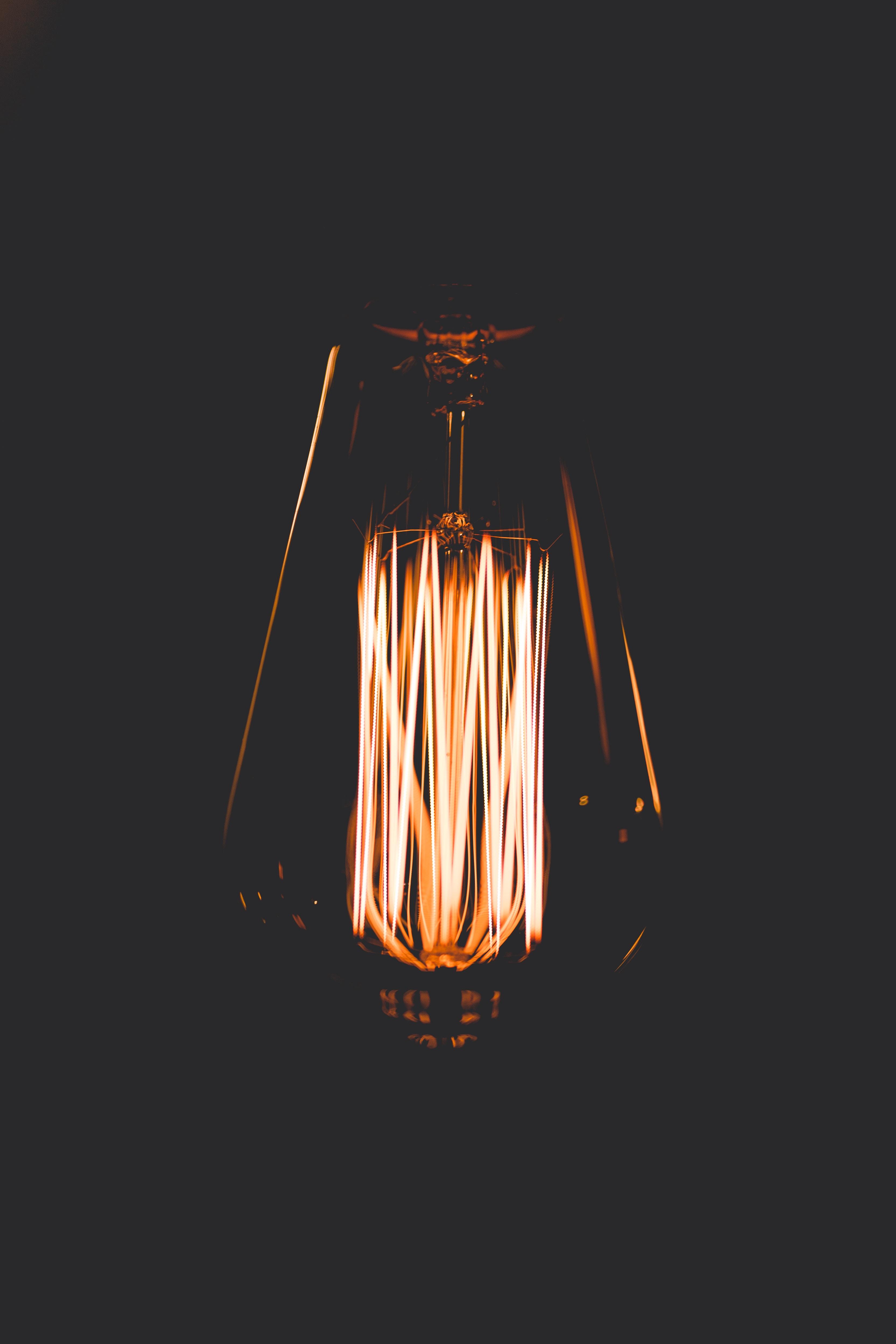 turned on lantern lamp