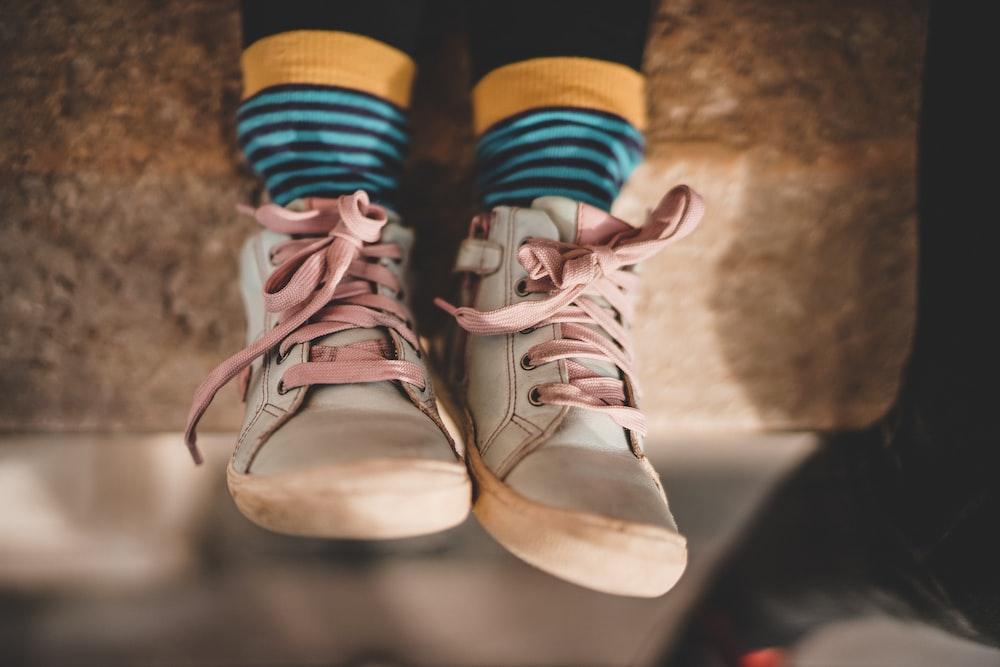 beige rubber shoes