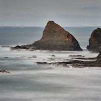 Rocks, waves and sea