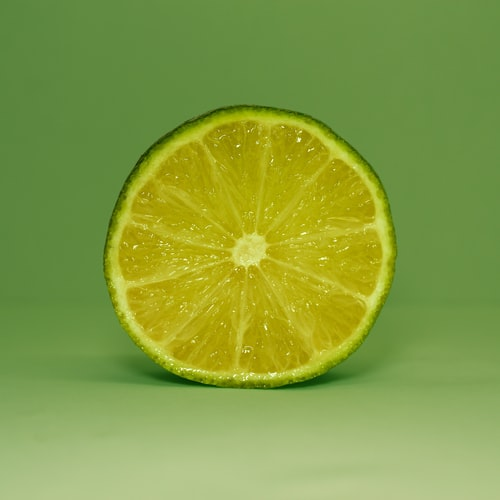 half of a lime.