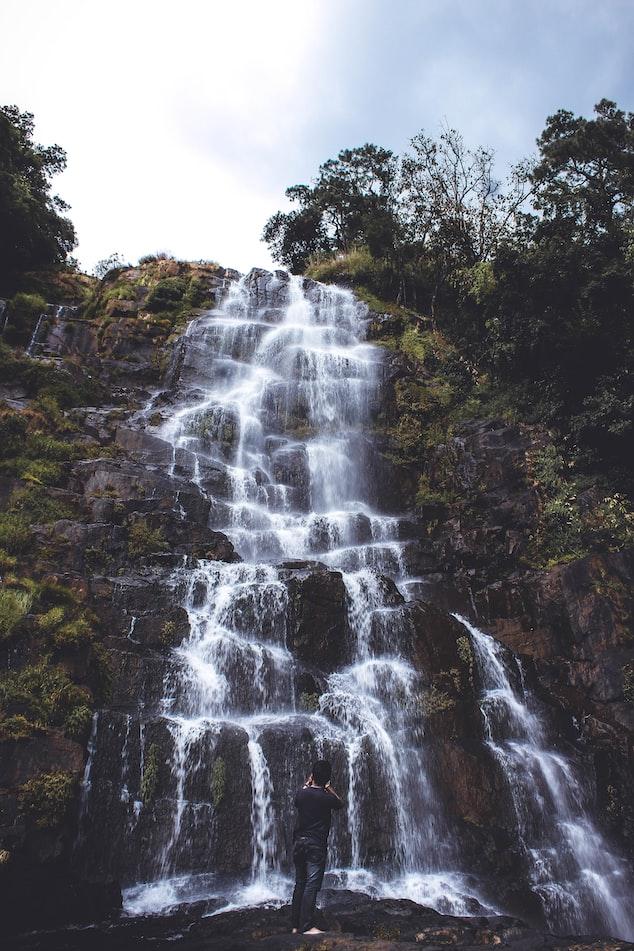 Tyrshi Falls in Meghalaya