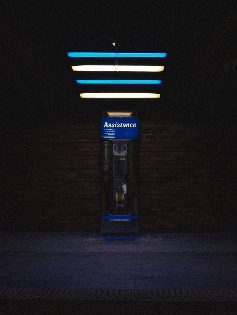 lighted Assistance signage