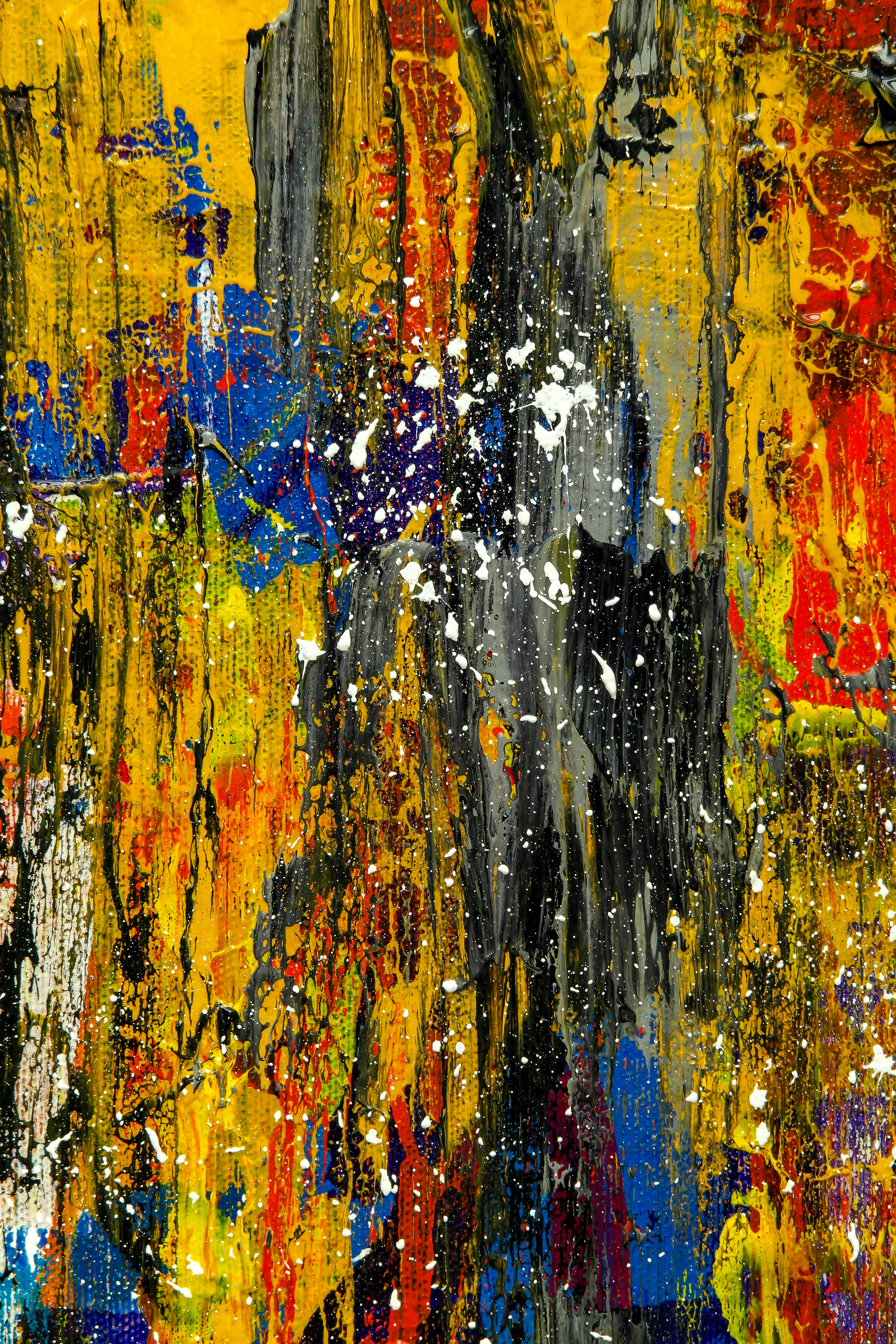 Photo abstract art modern red yellow and black photo digital art to download art digital abstract wall to decorate and for present