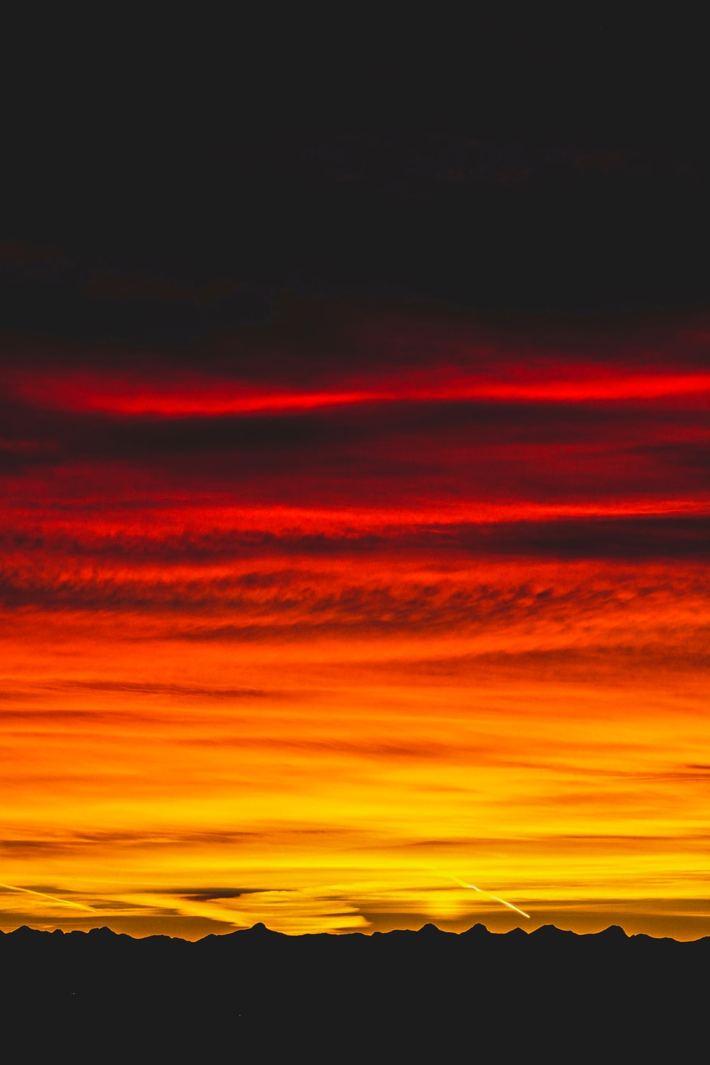 time-lapse photography of sunset