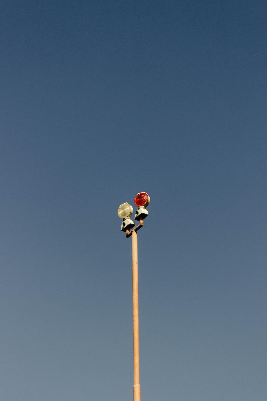 white lamppost