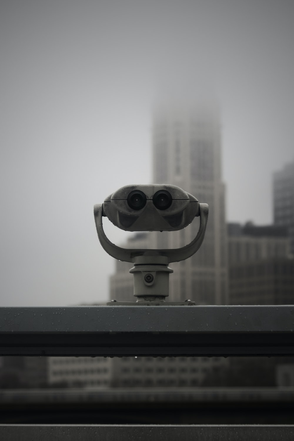 white rooftop viewer scope