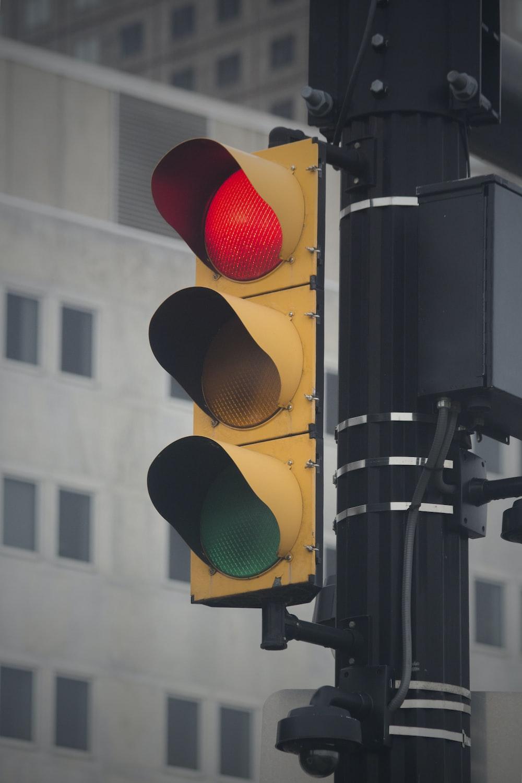 traffic light at red