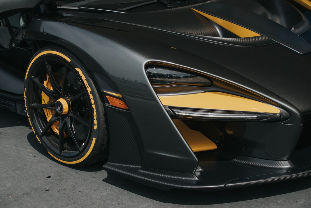 black and yellow car