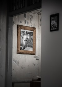 Old Wooden Frame on Wall