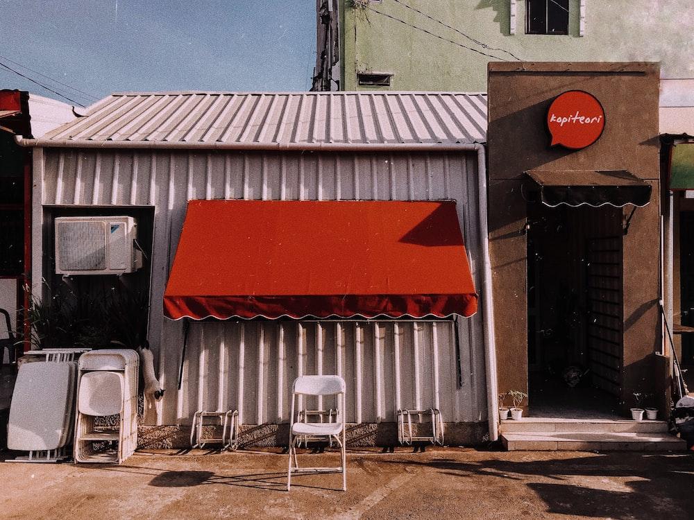 facade of white store