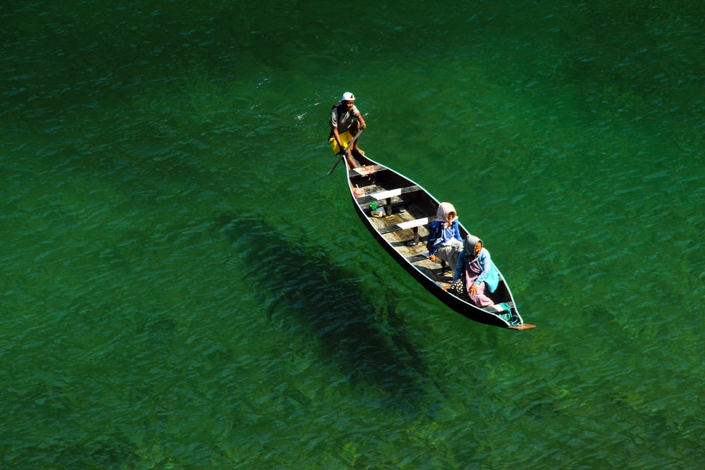 two person on boat
