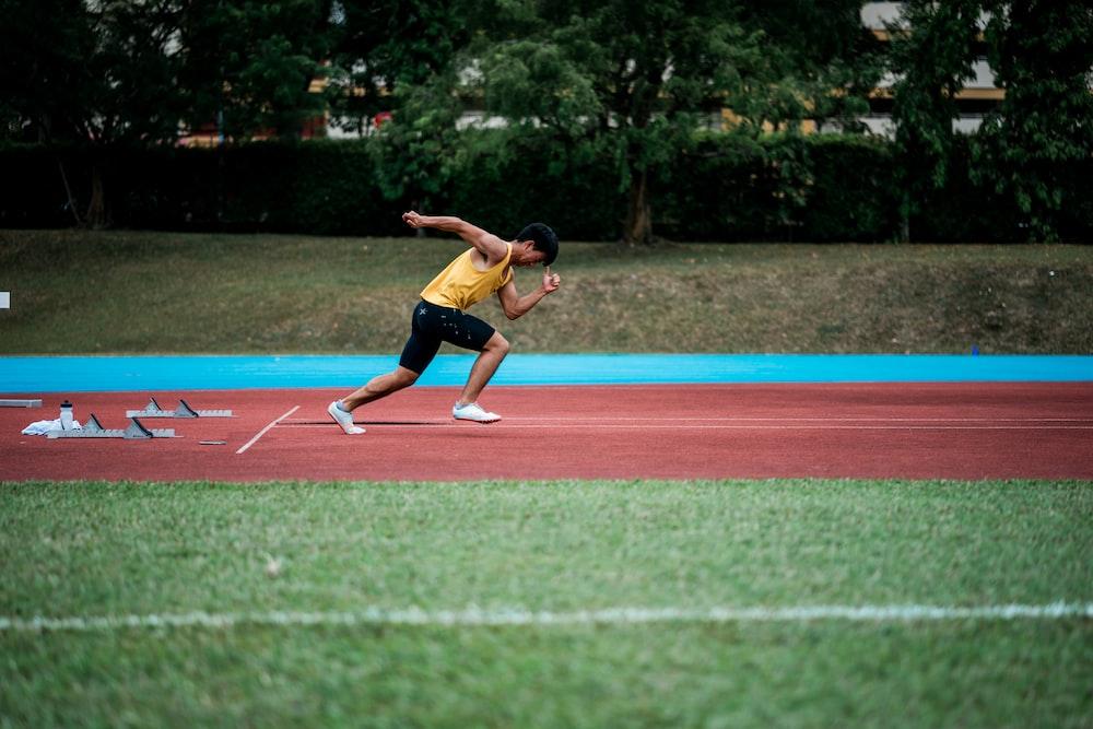 man running on field
