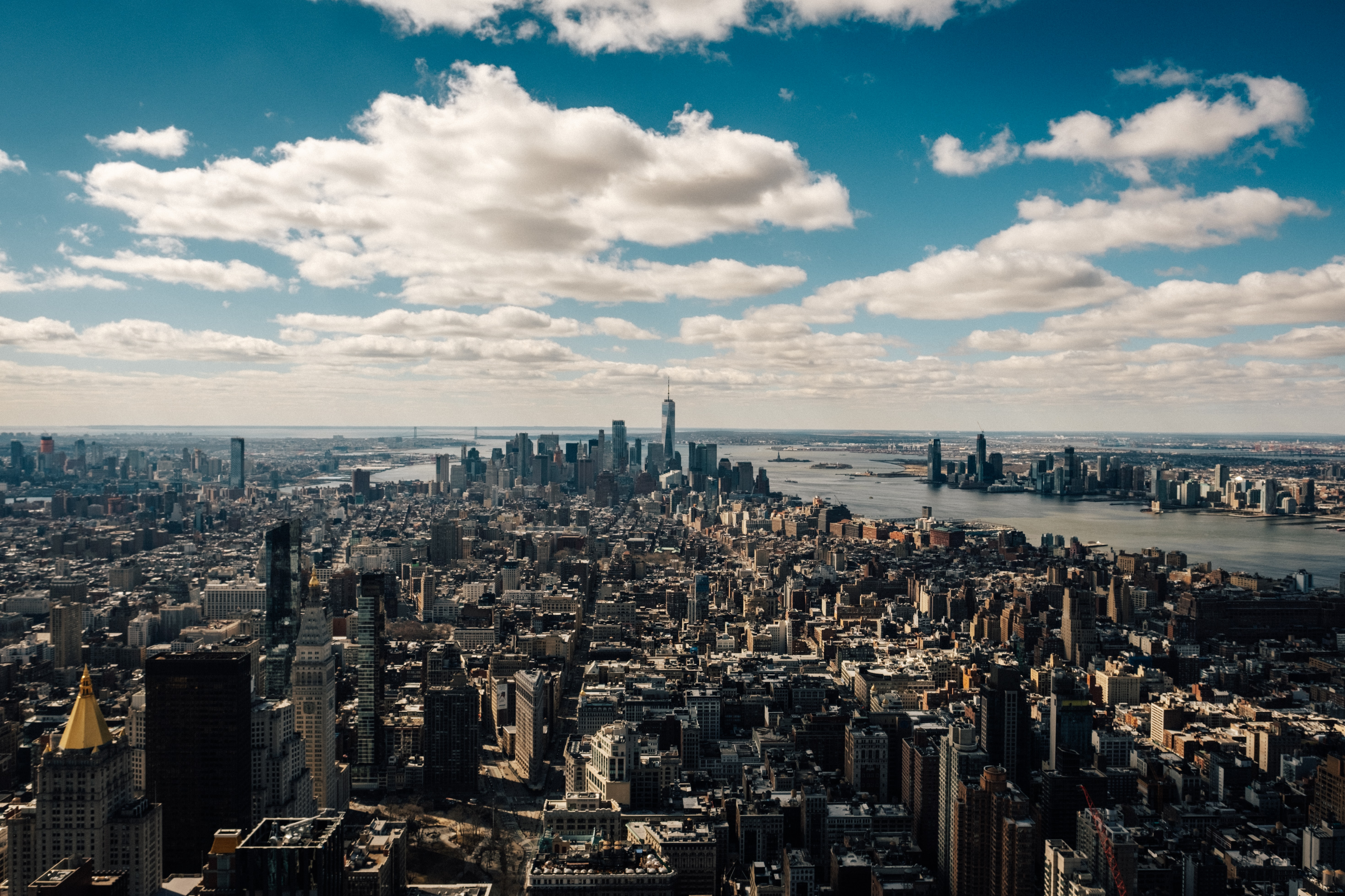 New York City under cloudy sky at daytime