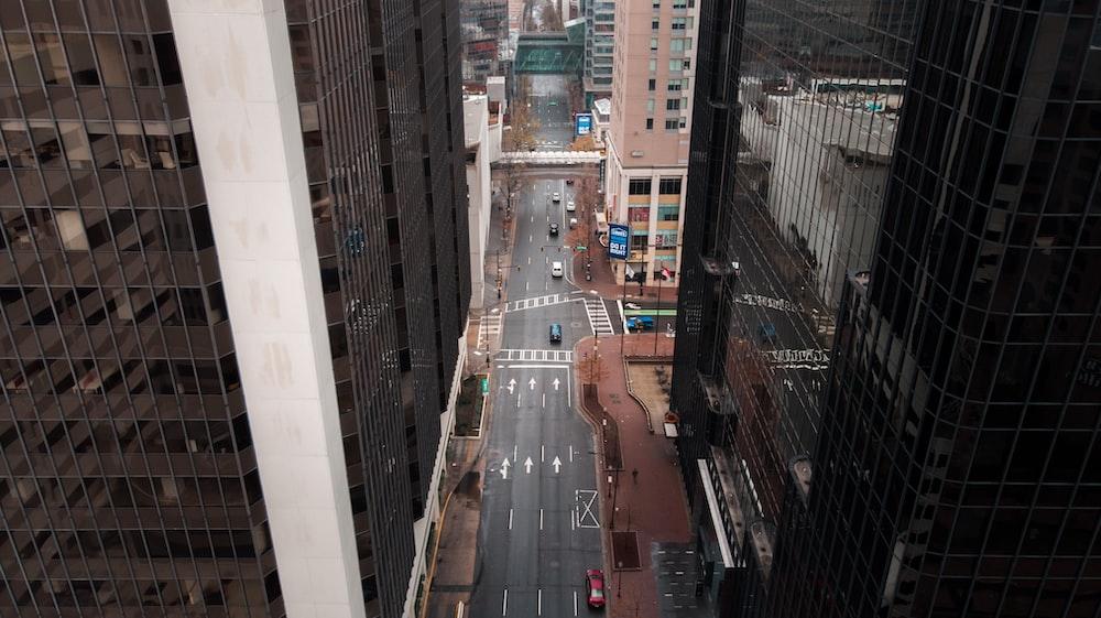 aerial photography of streett