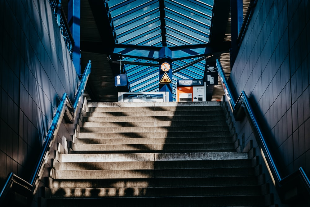 architectural photography of staircase