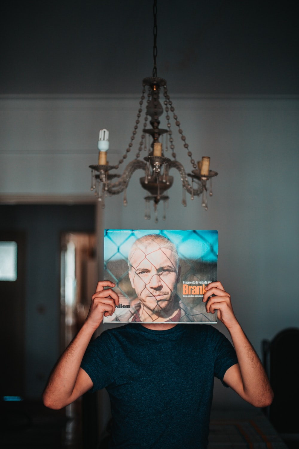 person holding man's photo