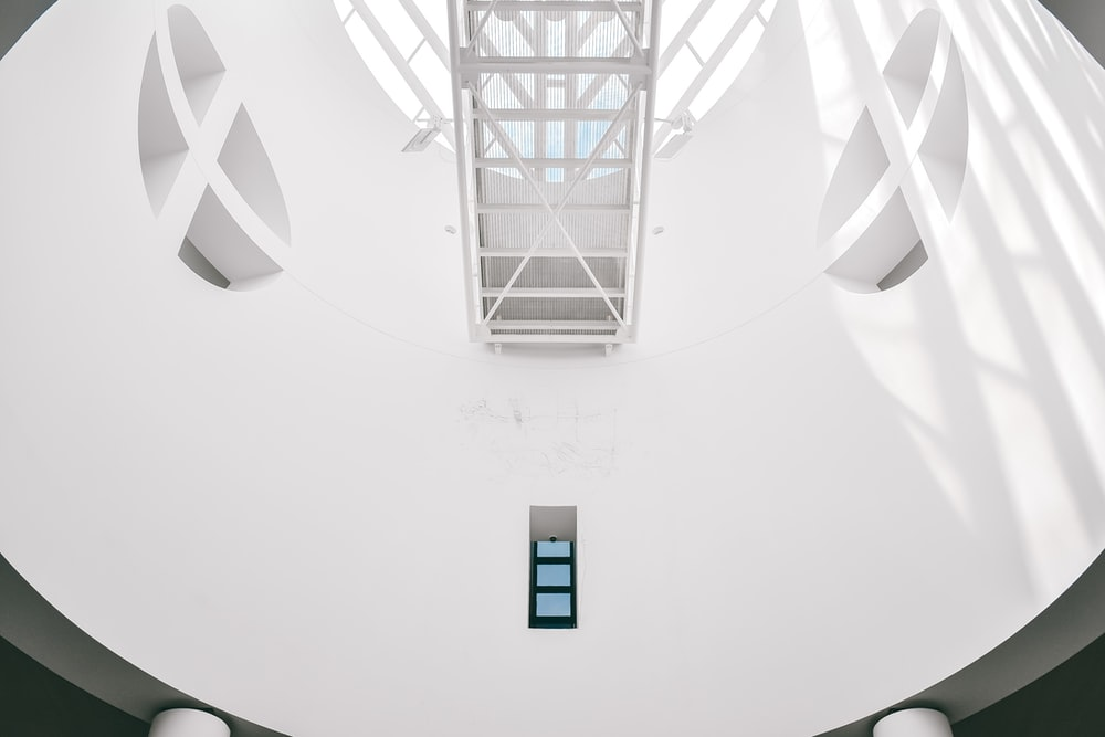 low angle photo of hallway