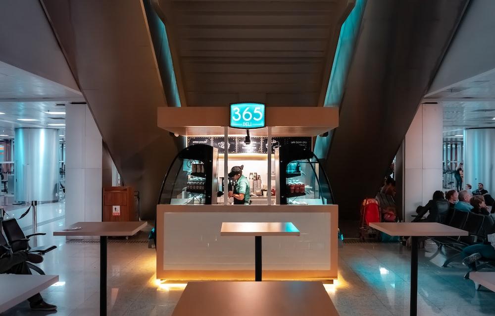 365 food stall under escalator