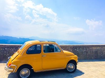 yellow volkswagen beetle san marino zoom background