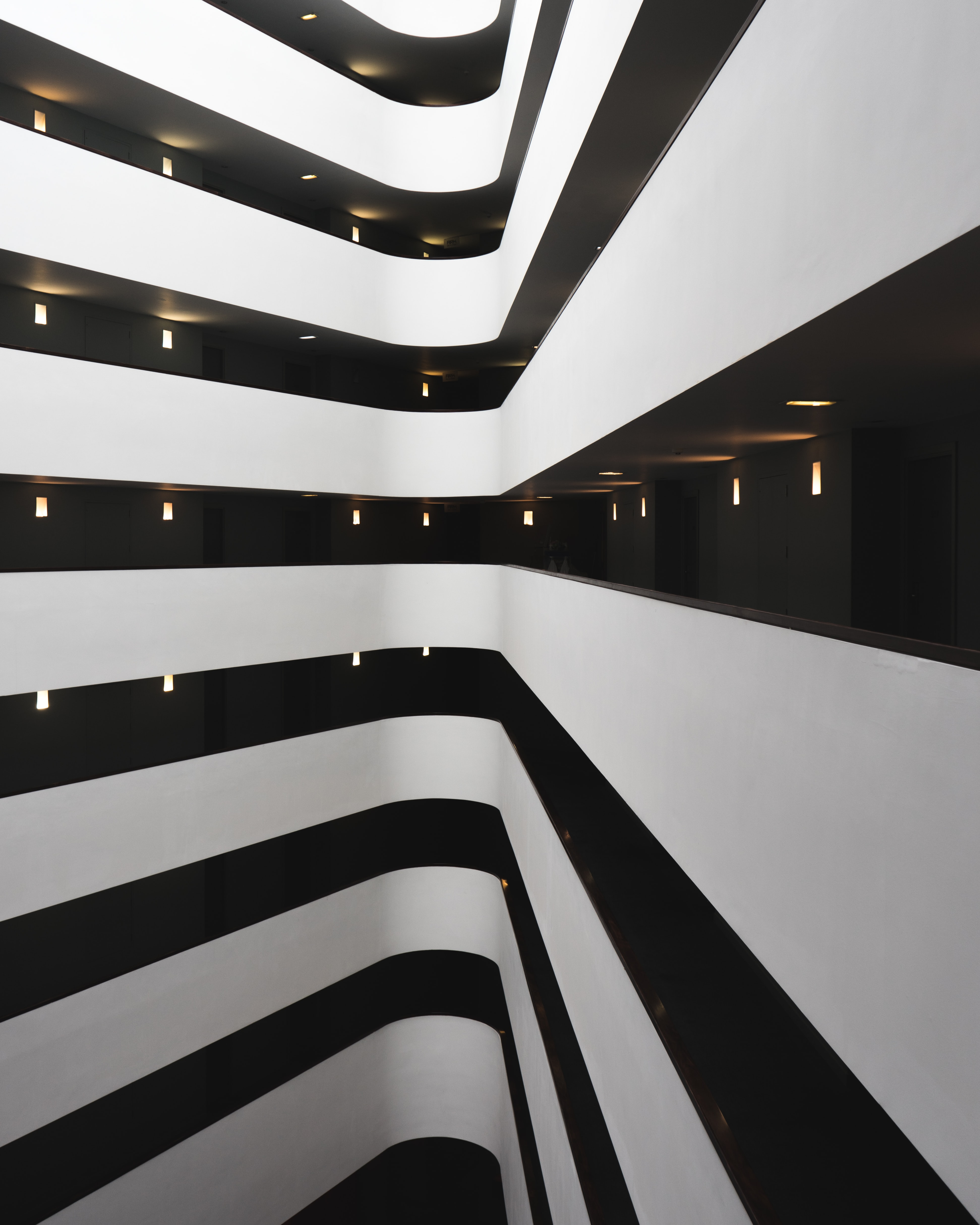 architectural photography of white building