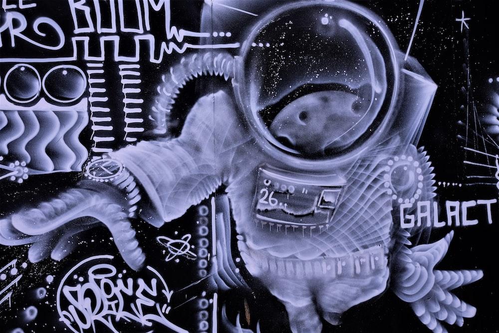 astronaut graffiti