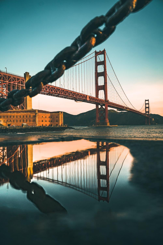 low-angle photography of bridge