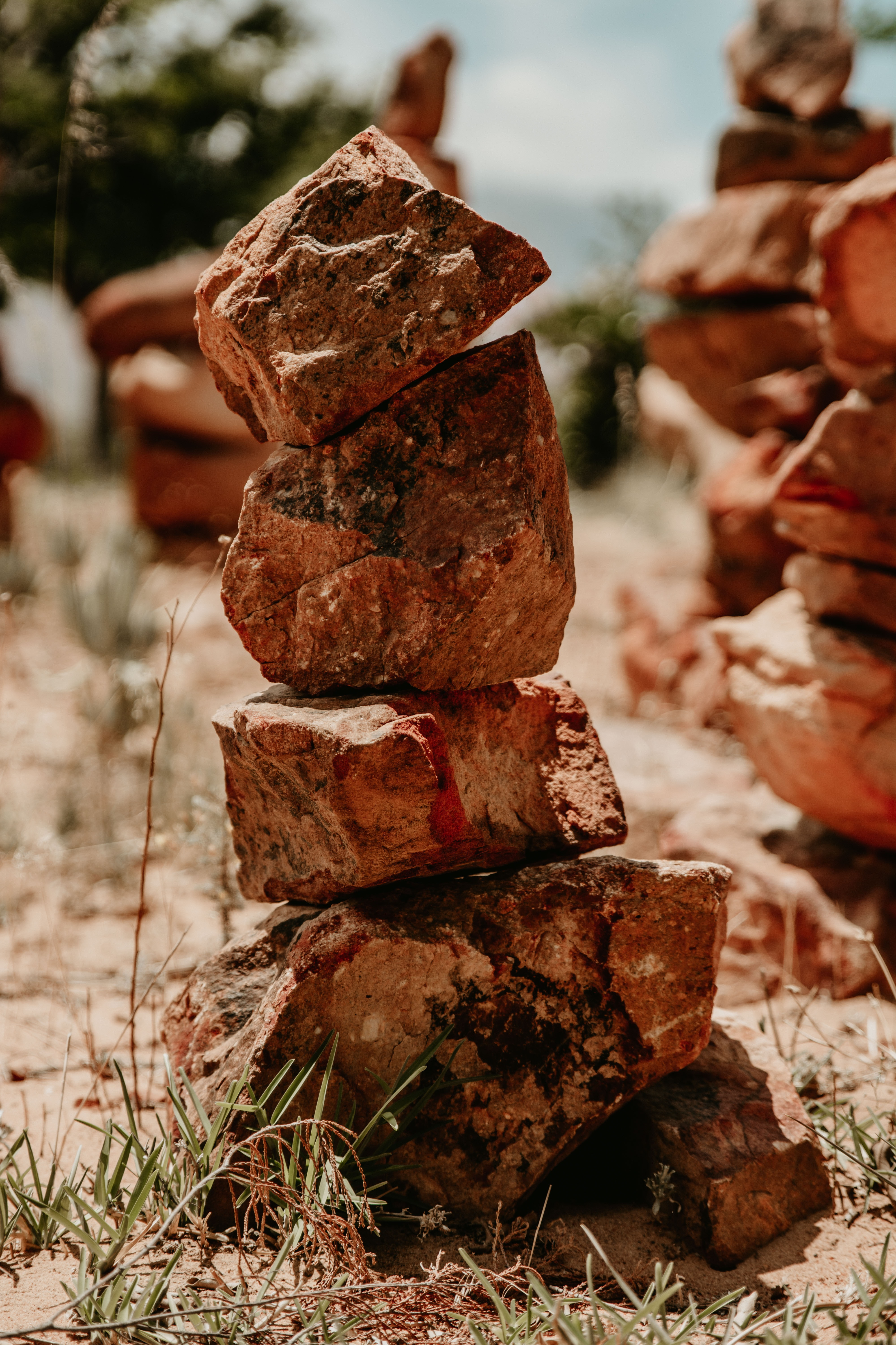 brown cairn
