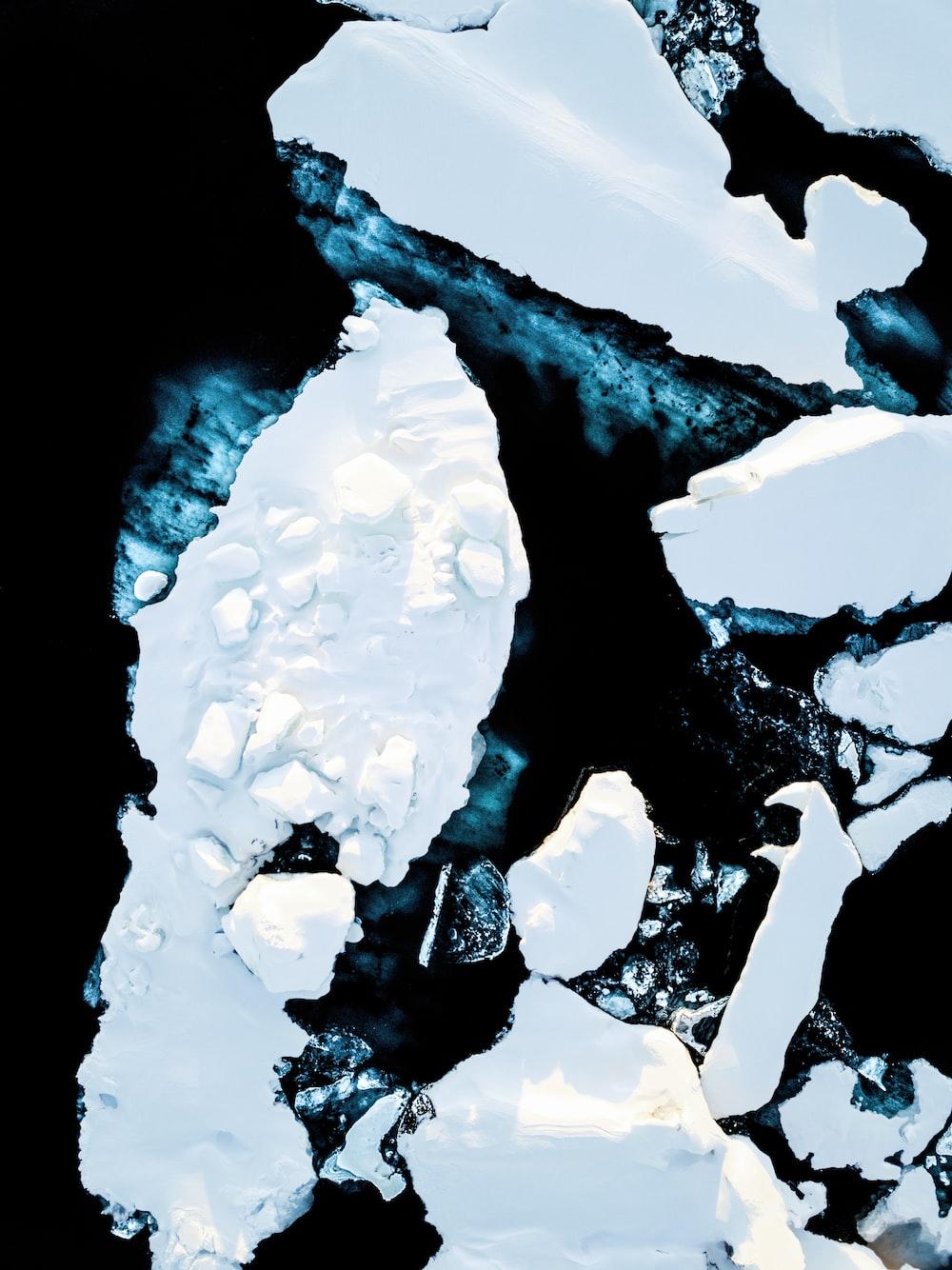 icebergs top view