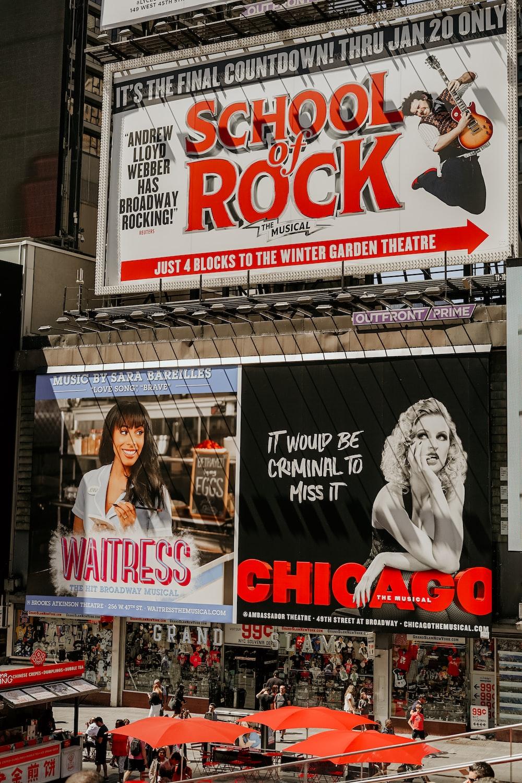 assorted-color billboards