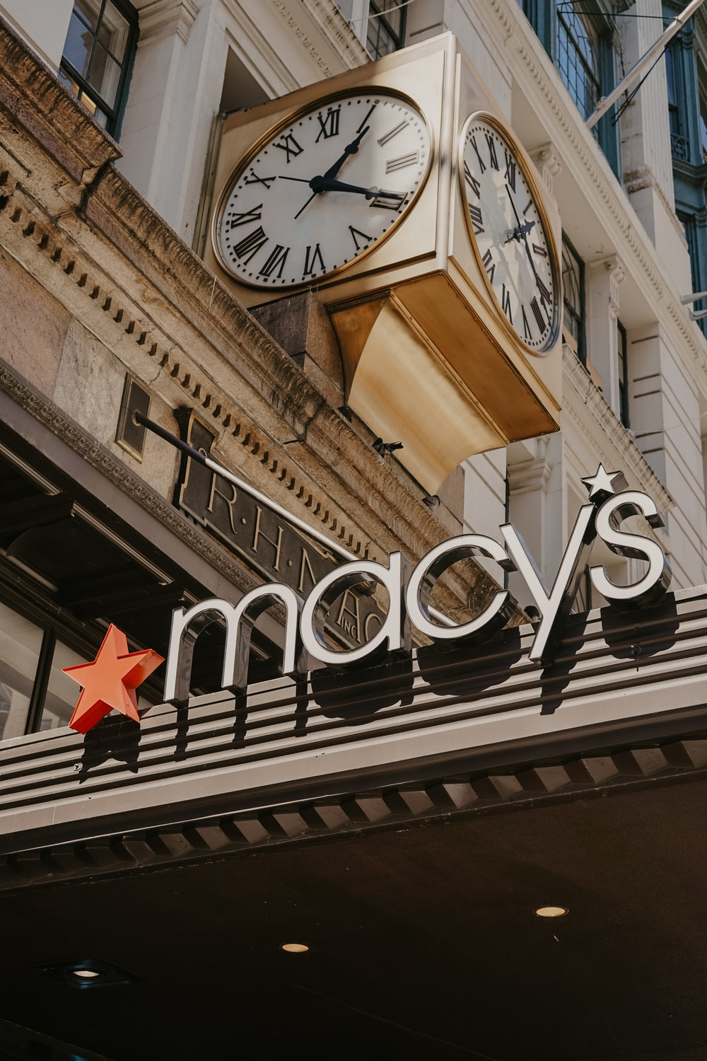 low-angle photography of Macy's store
