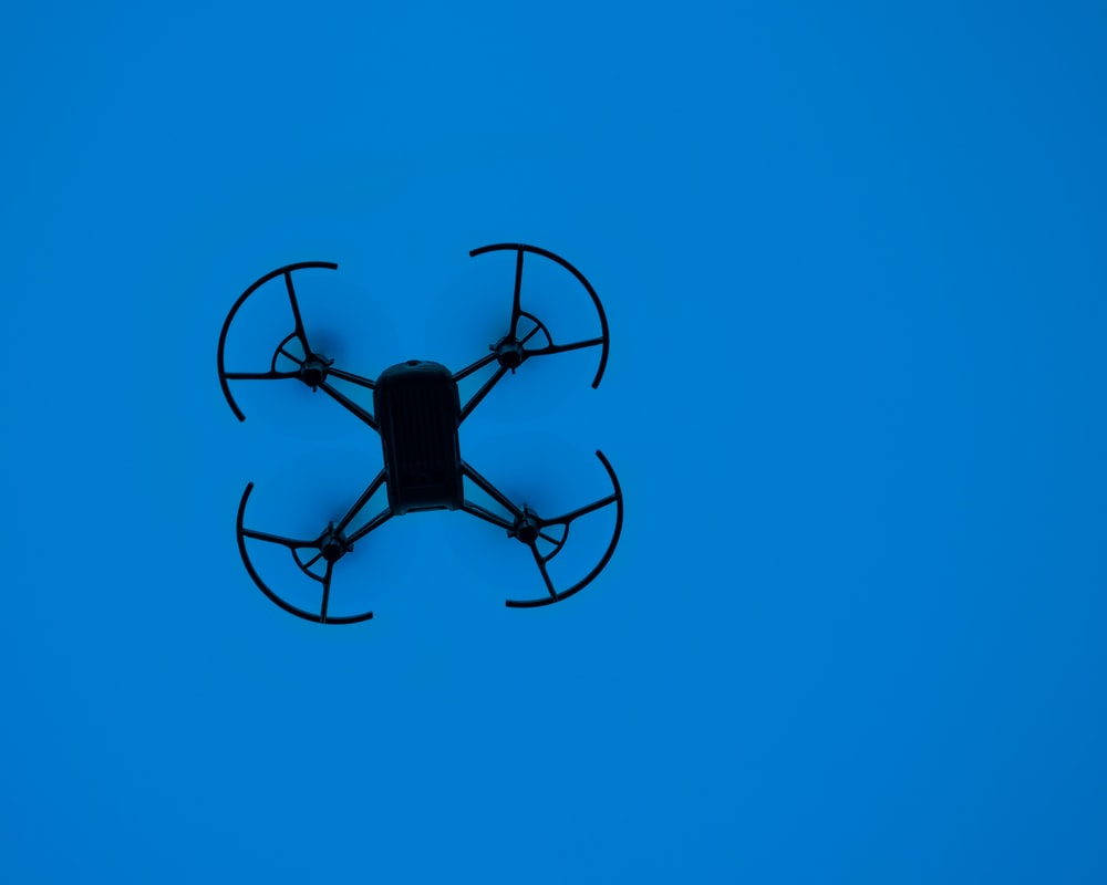 black quadcopter
