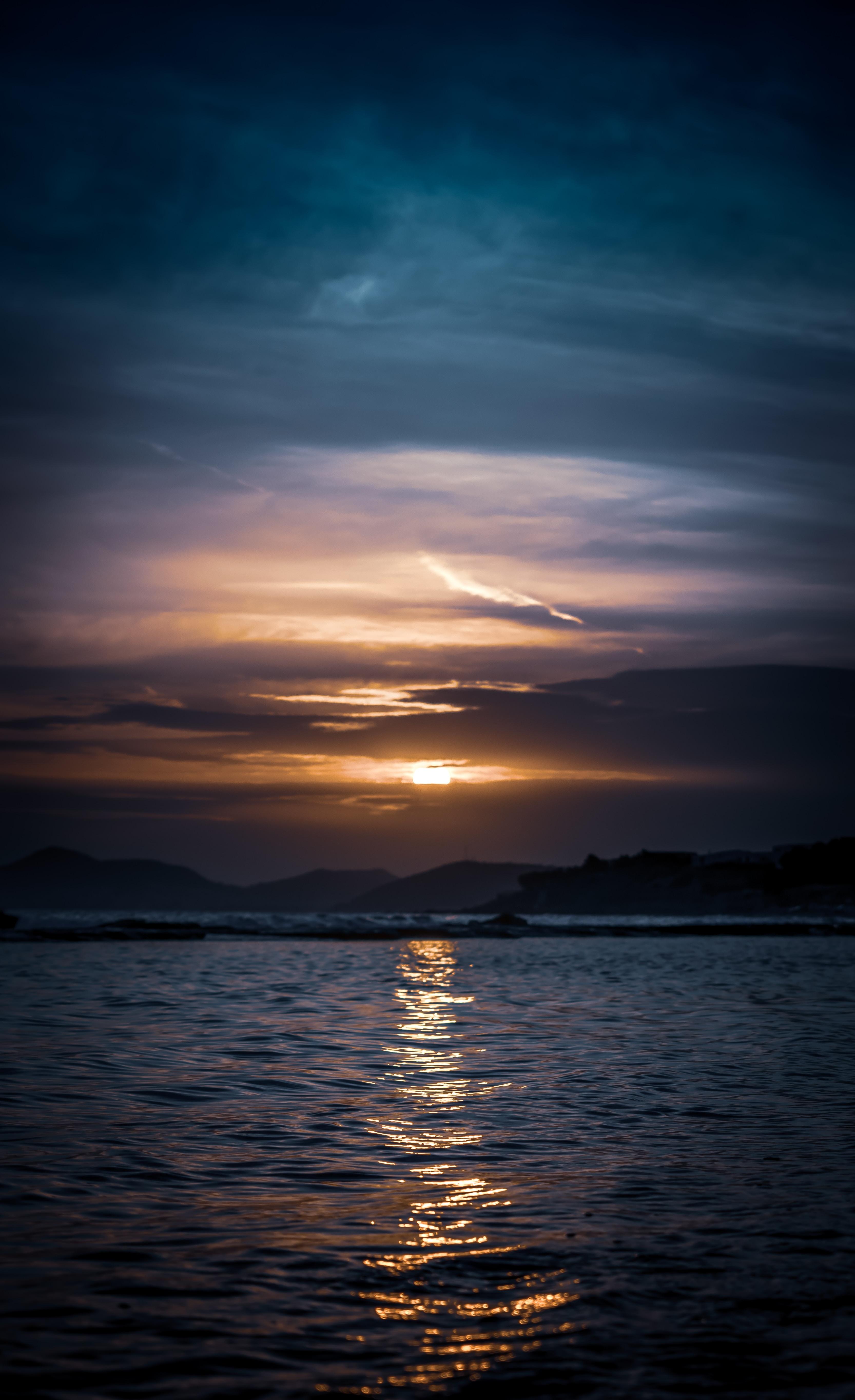 beach under golden hour