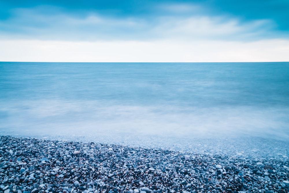 gravel on shoreline