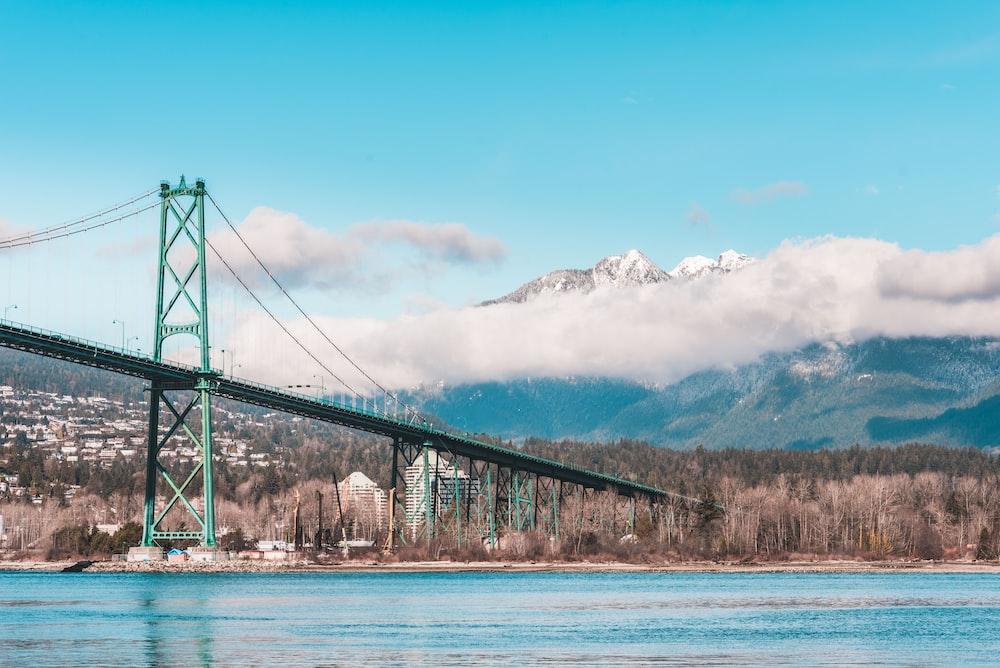 green steel bridge