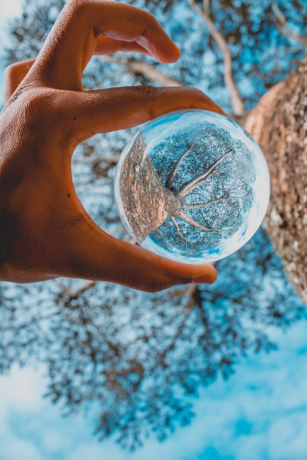 round clear glass ball