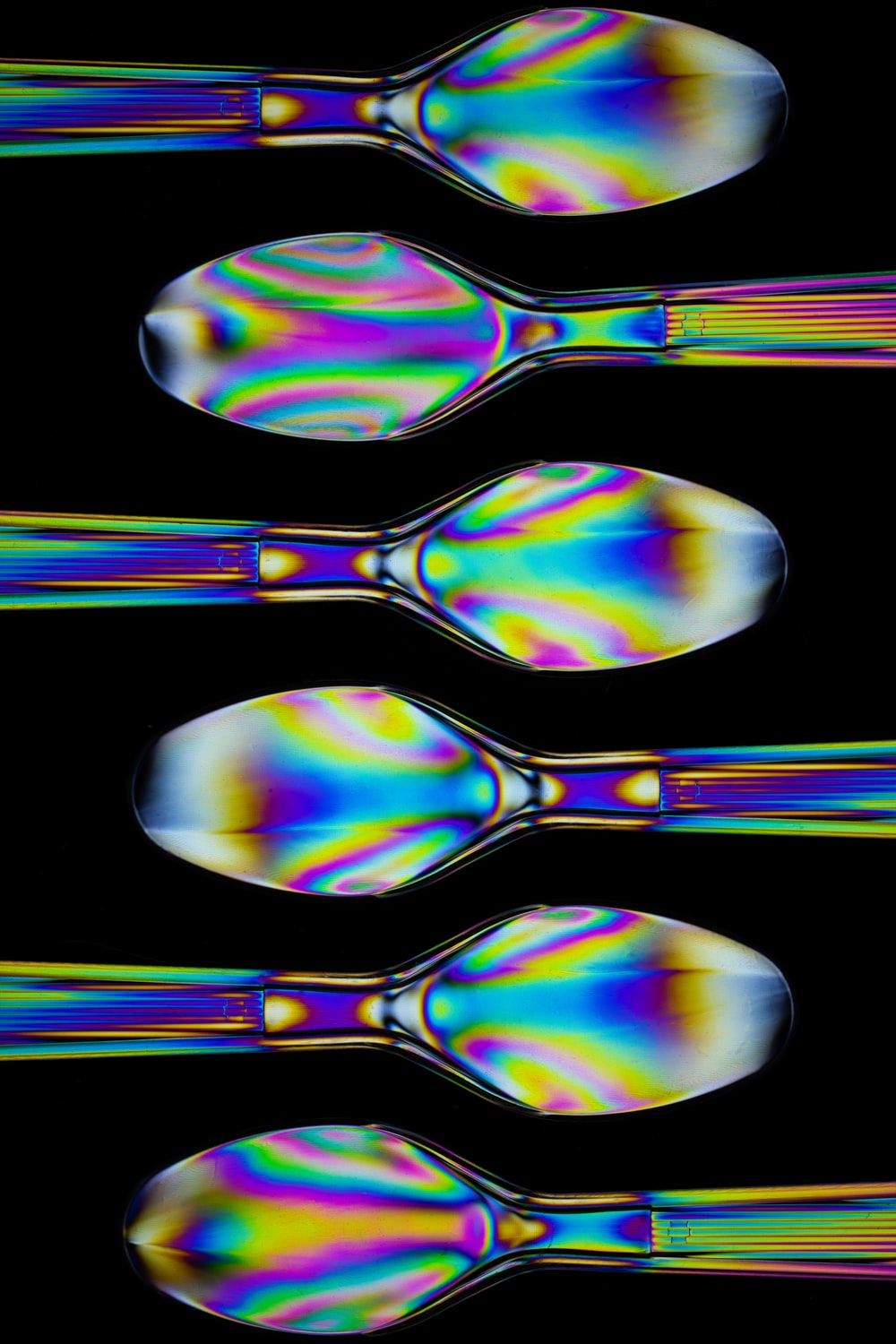 iridescent spoon artwork
