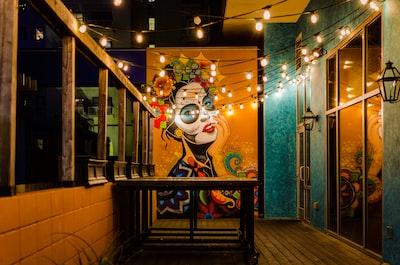 frida kahlo mural painting cinco de mayo zoom background
