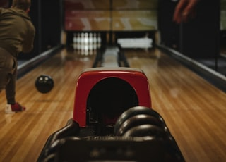 person playing bowling