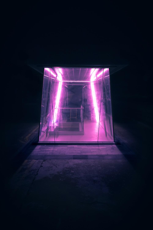 black light near staircase