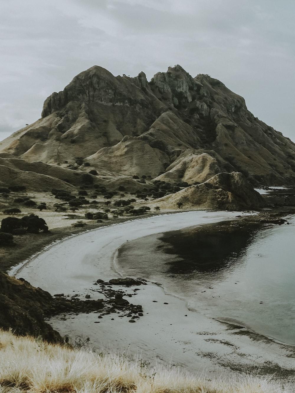 seashore near mountain