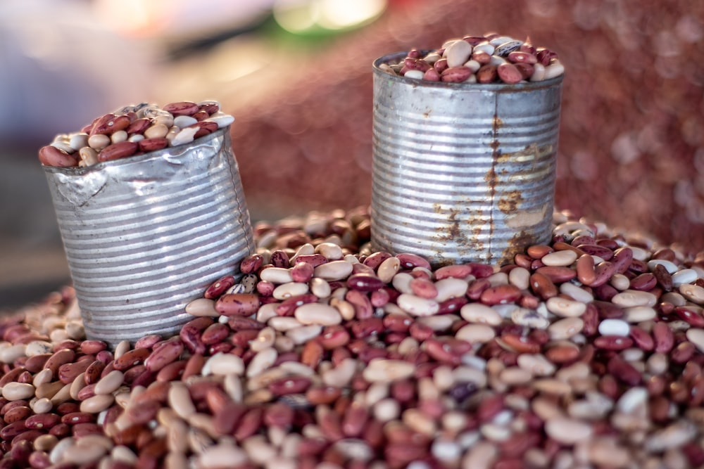 two cans of beans on bean lot