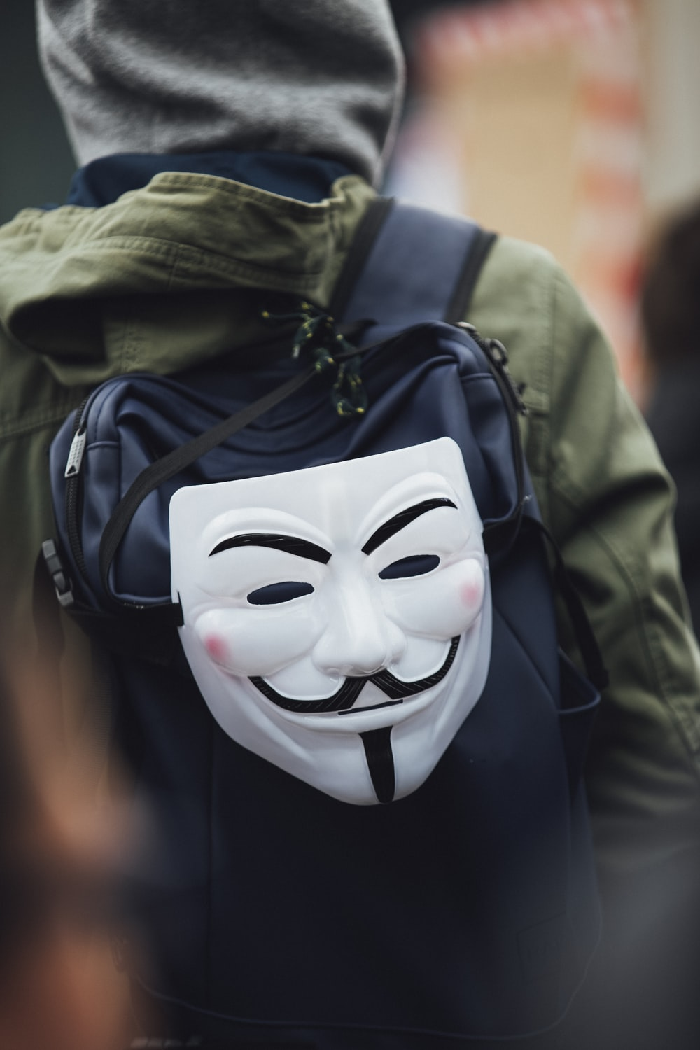white Anonymous mask