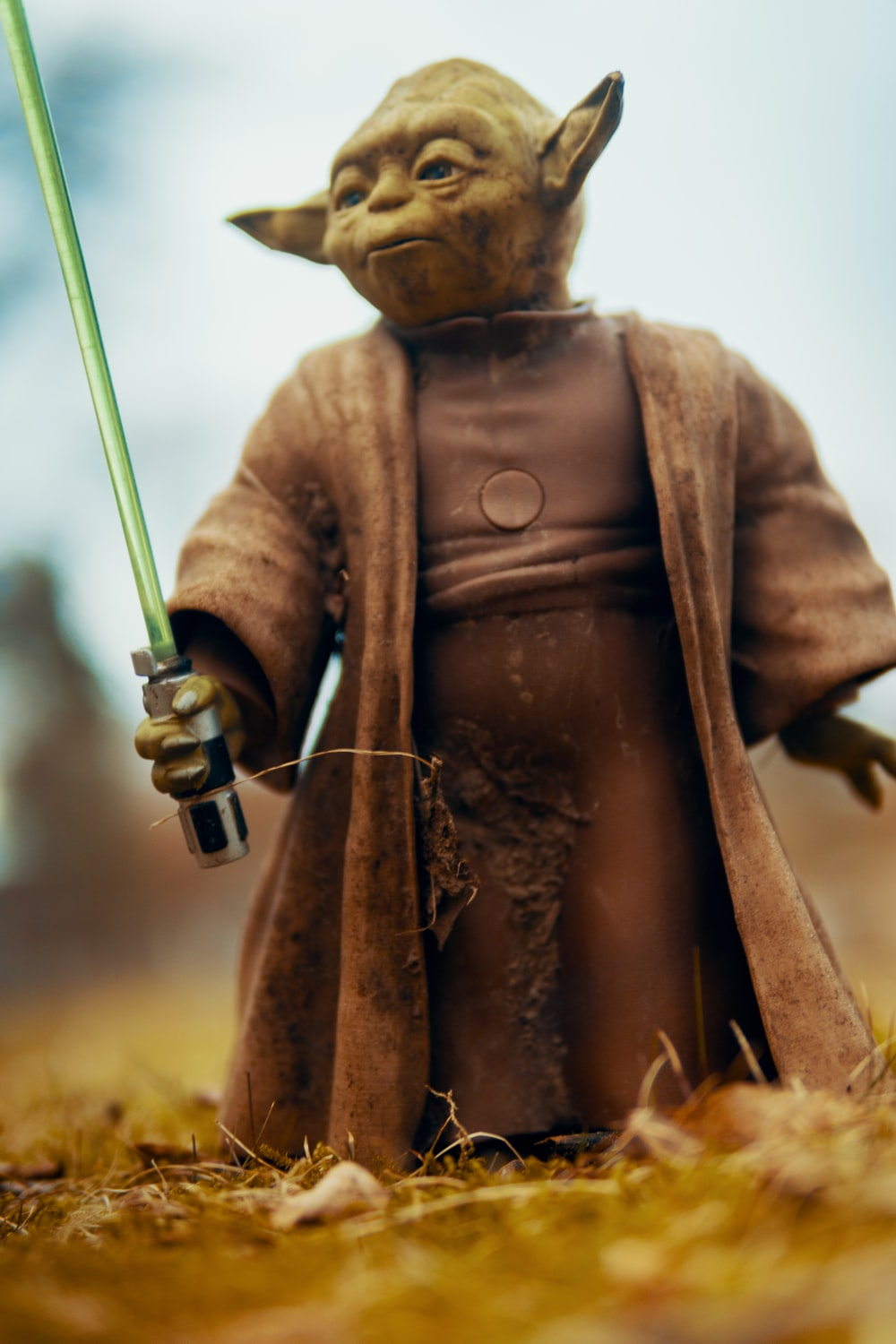 Star Wars character with sword doll
